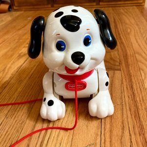Fisher Price 2002 Dalmation Dog Pull Toy